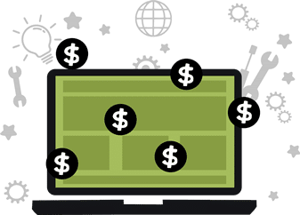 Pay per click marketing service icon